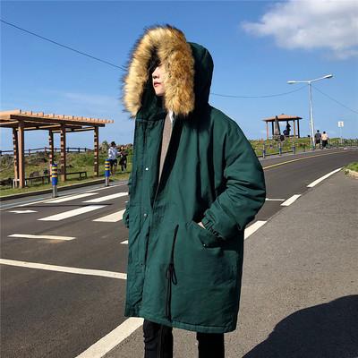 2018冬 加厚中长款大毛领棉衣男外套 W565/P168(不低于198)
