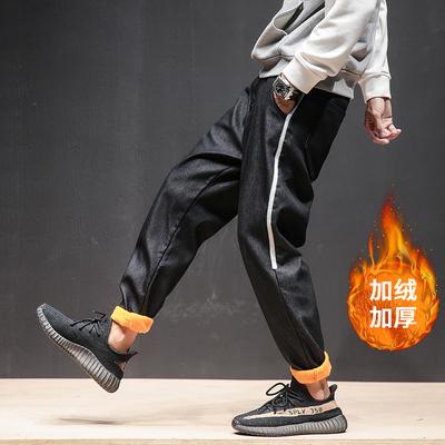 2018 马切达新款加绒加厚牛仔裤 侧缝织带牛仔裤M-5X GK42-P50
