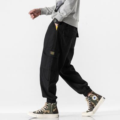 2020 春季新款 日系无影墙大码束脚复古九分工装裤 HK20010-P55
