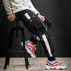 2020 春季新款 日系马切达大码束脚刺绣工装裤 HK20017-P70