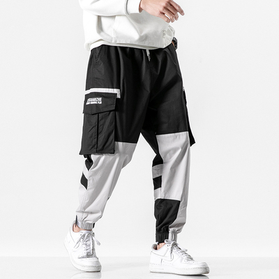 2020 春季新款 日系无影墙大码撞色工装休闲裤M-5X HK20076-P70