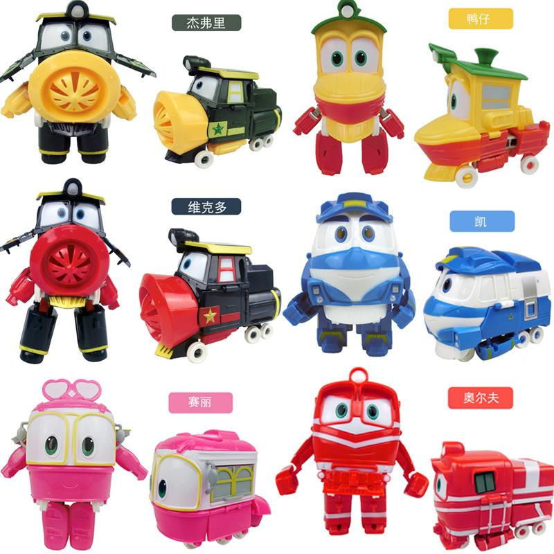 动感火车家族玩具维克多机器人凯奥尔夫火车侠变形装甲款礼物大号