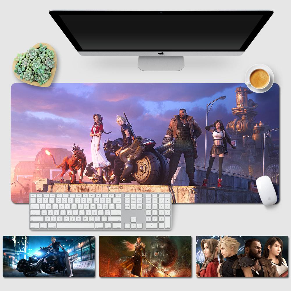 最终幻想7重置版鼠标垫 FF7周边超大游戏键盘桌垫 克劳德蒂法胶垫