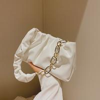 查看小众包包单肩包2021新款韩版潮百搭云朵包褶皱包腋下包女包手提包价格