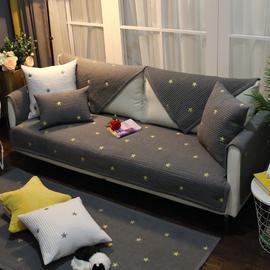 北欧轻奢高档沙发垫布艺全棉四季通用防滑万能套罩靠背巾全包全盖图片