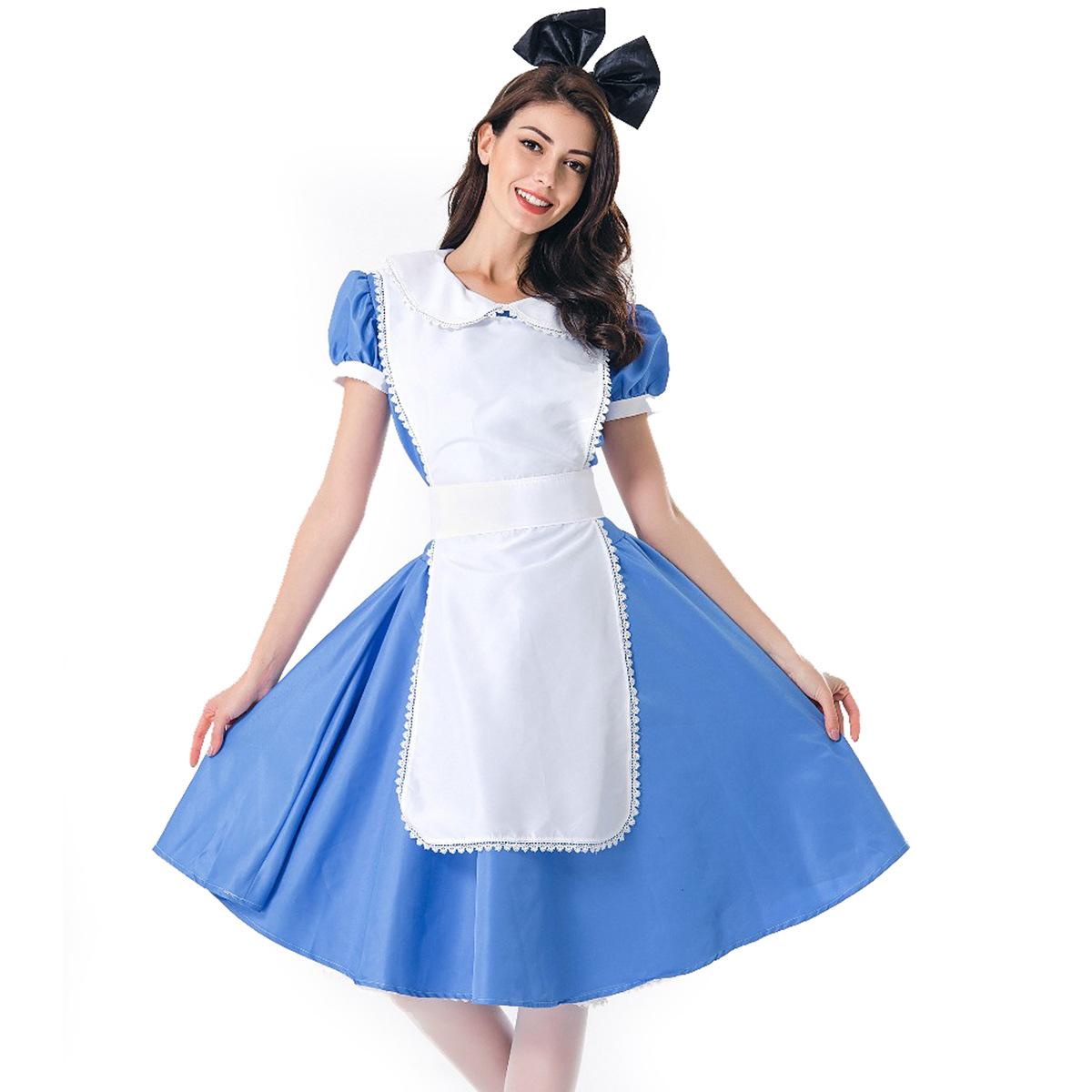 万圣节成人女仆服装女佣装角色扮演舞台演出服装咖啡厅服务员制服