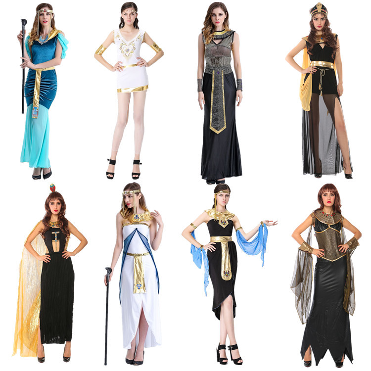 Halloween Cosplay Greek goddess role play costume ancient Cleopatra Queen Costume Egyptian pharaoh Costume