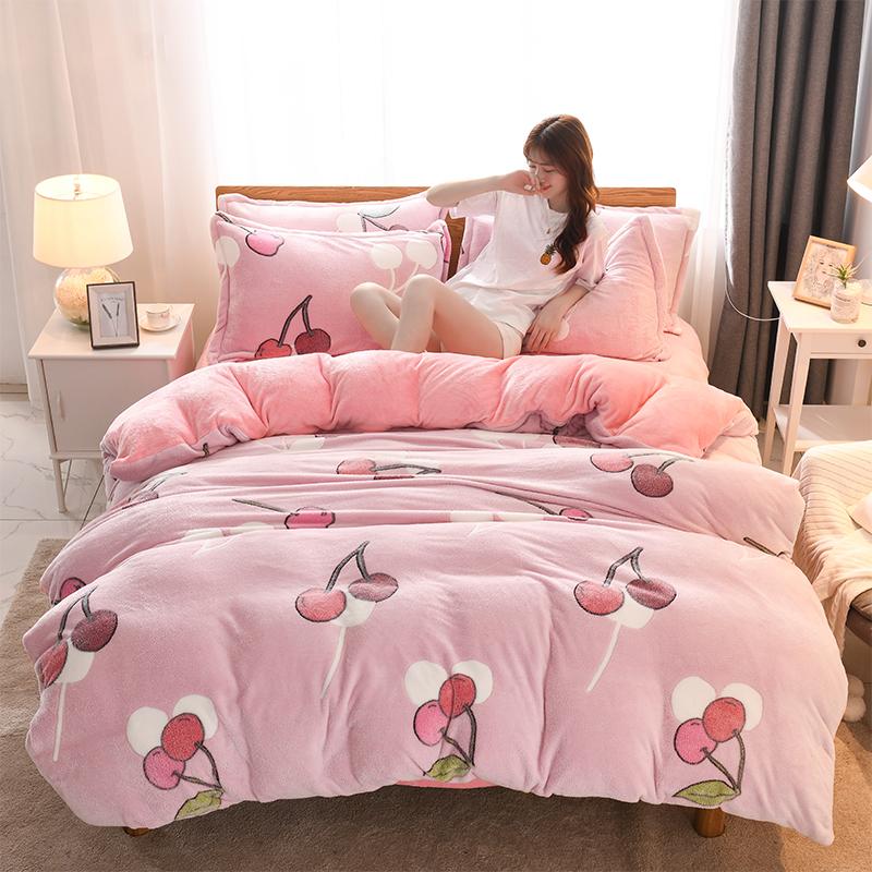【粉丝专享限量秒杀】新款ins网红床上用品5D雪花绒超保暖四件套