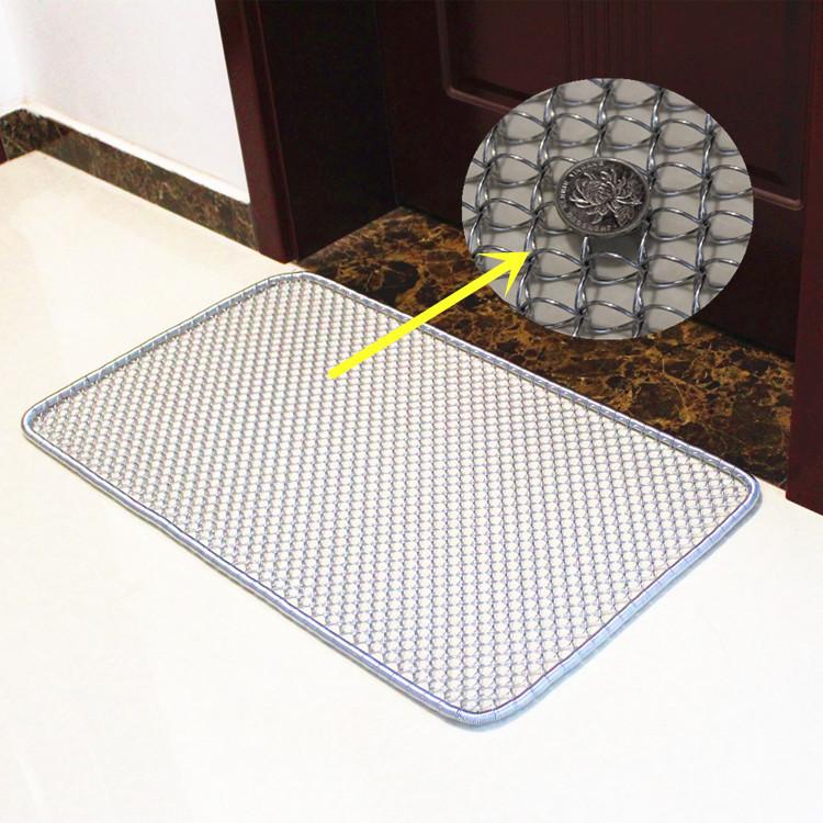 加密钢丝垫脚垫蹭雪防滑门垫铁丝脚踏网除尘垫进门蹭泥耐锈钢地垫