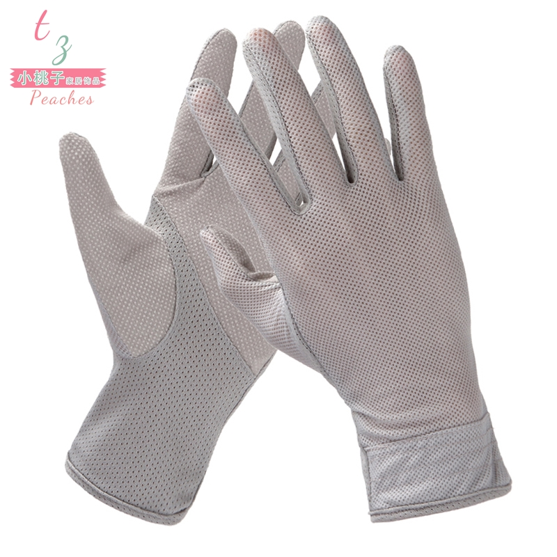 Sunscreen gloves for men, thin driver, full hand anti slip, summer cycling, driver specific summer