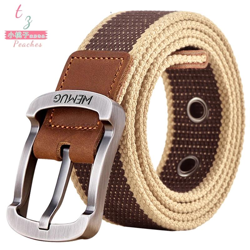Needle buckle canvas belt, mens and womens belts, youth Korean version trouser belt, leisure business belt
