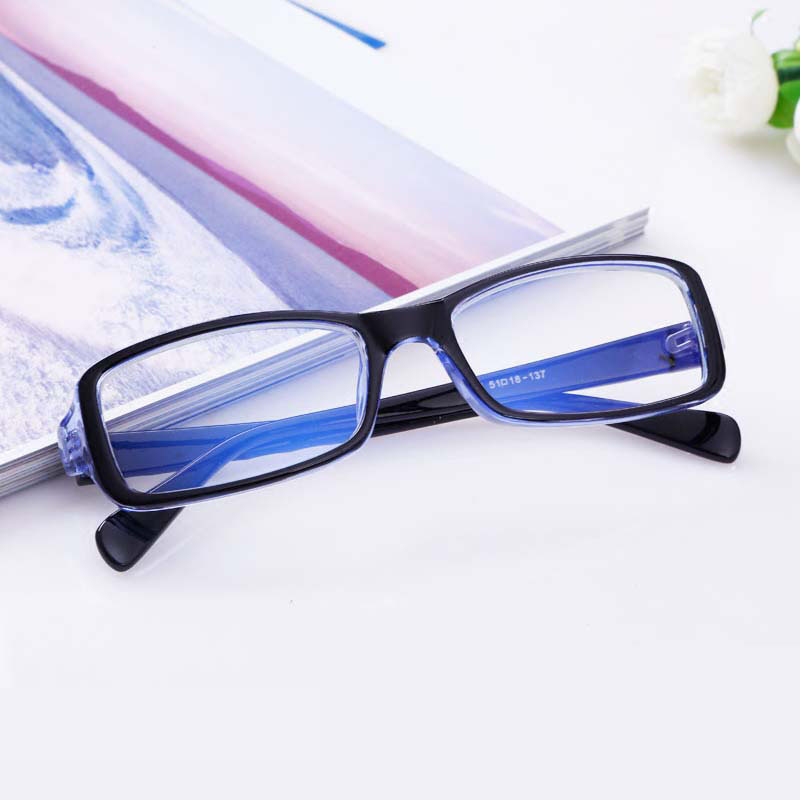 Anti radiation glasses mens and womens eye protection flat lens anti blue light mobile phone computer goggles non degree flat lens