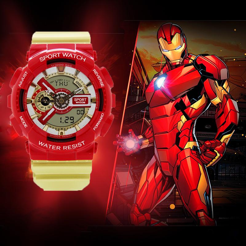 复仇者联盟4钢铁侠手表 漫威联名同款纪念款男女学生电子手表儿童