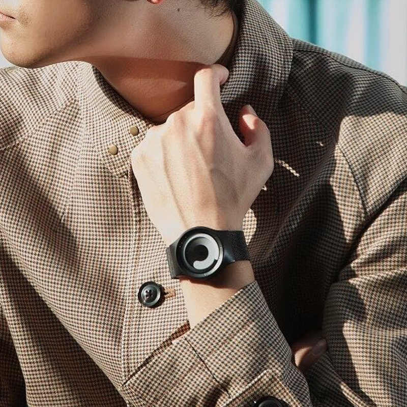 Watch male student pointless European and American net red creative personality cool new wormhole concept watch female