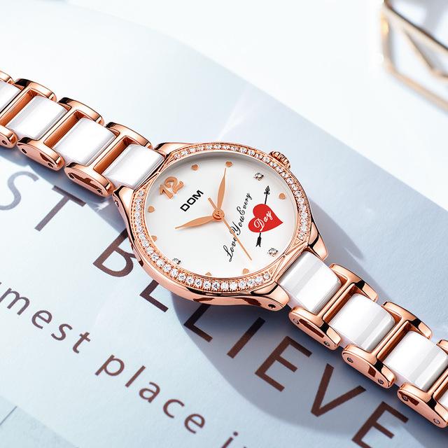 陶磁器の腕時計の女性ins風2020年ネットの赤い新型の覇気の高級感の簡約な気質の女性の細い帯は小さいです。