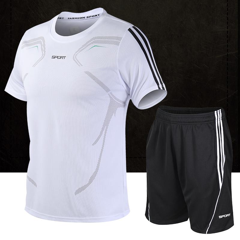 运动套装男夏季短袖健身衣服潮短裤