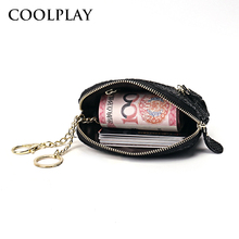 New leather simple purse women's personality Korean version of the small wallet short paragraph mini cute multi-function coin bag