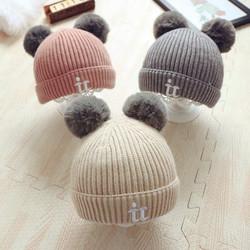 宝宝帽子秋冬季婴儿毛线帽男童0-1岁女童时尚潮儿童冬天幼儿3小孩