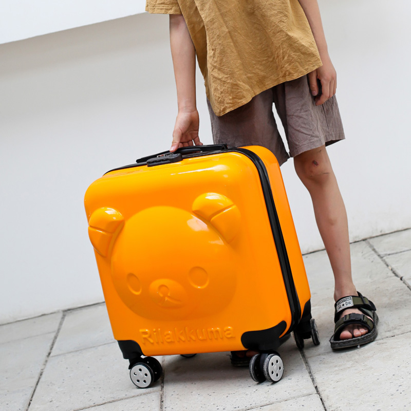 Cartoon trolley case childrens 20 inch primary school students suitcase boys and girls lovely princess suitcase Cardan wheel suitcase