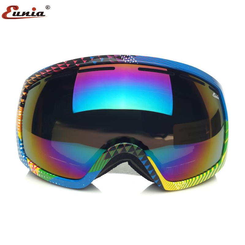优尼雅双层防雾滑雪镜 球面 男女通用雪地护目镜 可罩近视镜
