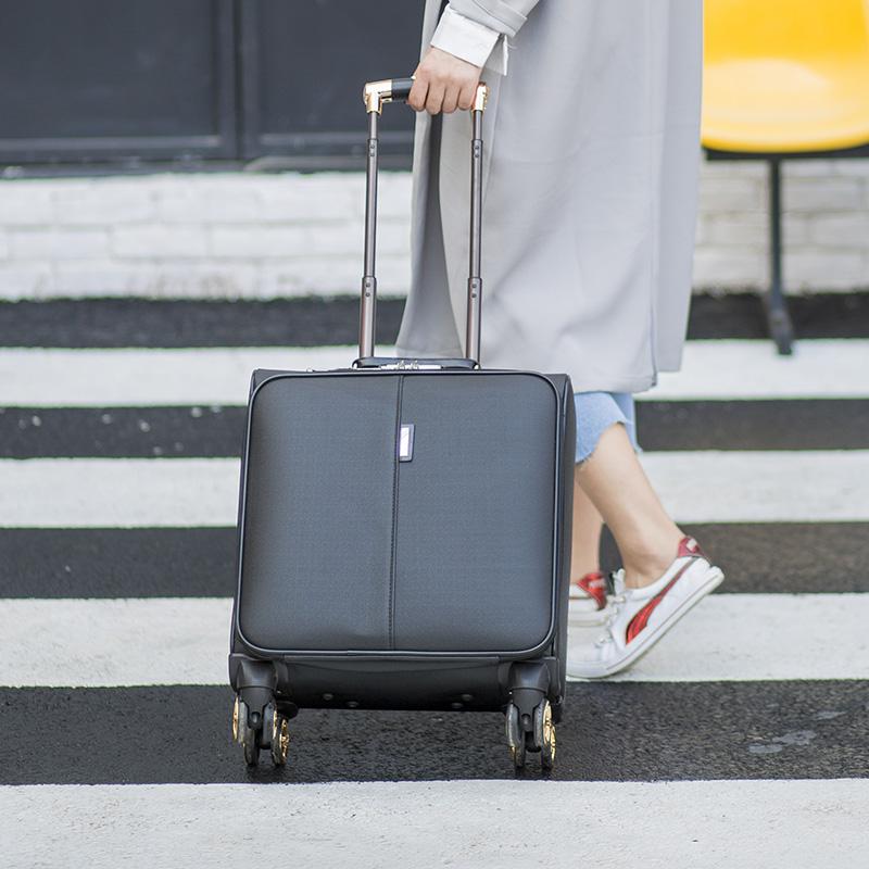 特价16寸商务拉杆箱电脑旅行箱包皮箱小型行李箱软登机箱拖箱男女