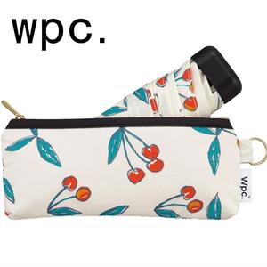 新款正品日本WPC五折迷你超轻防晒樱桃伞折叠扁伞晴雨伞1656-189