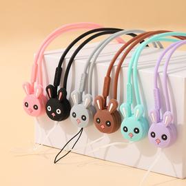 韩国卡通硅胶手机挂绳 手机挂脖绳子 可爱女款挂饰加长款手机挂绳