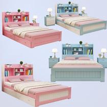 兒童床帶護欄男孩單人床女孩公主床加寬小孩拼接床嬰兒小床實木
