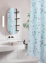 雅汐浴室卫生间浴帘套装免打孔加厚防水防霉门帘挂链窗帘隔断帘布