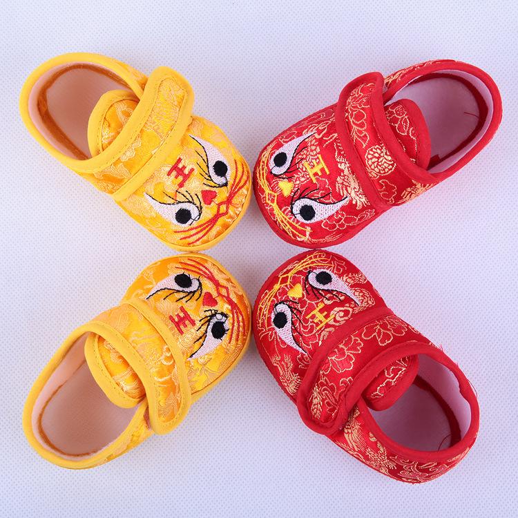 Tiger shoes childrens shoes Infant Soft soled summer and autumn walking shoes infant tiger head shoes baby handmade cloth shoes walking shoes