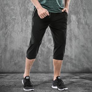 冰丝运动七分裤男夏季轻薄高弹力快干休闲裤男子跑步健身训练短裤