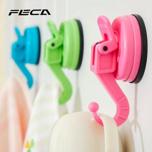 台湾FECA非卡 海马吸盘挂钩厨房卧室浴室门后挂钩无痕粘钩多色