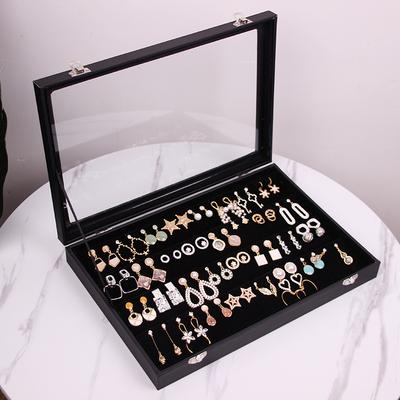 包邮首饰收纳盒子耳钉耳环收纳整理收藏盒大展示架耳坠饰品珠宝箱