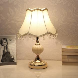 小台灯创意现代可调光LED节能床头灯 饰婚房温馨个性 卧室装 欧式