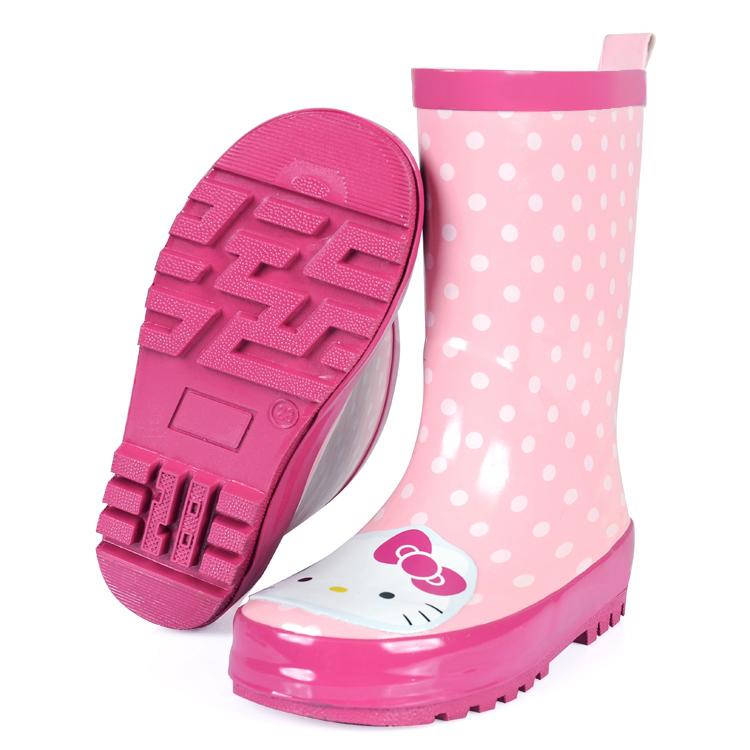 儿童雨鞋女童水鞋可爱亲子雨鞋橡胶防滑水鞋宝宝小孩保暖雨靴