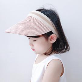 儿童帽子夏空顶大帽檐亲子凉帽男童女童遮阳帽宝宝防晒帽太阳草帽