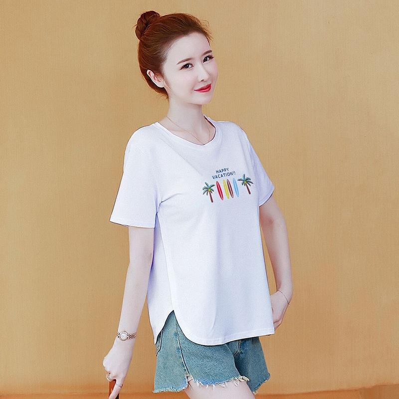 新款韩版短袖t恤女上衣宽松大码
