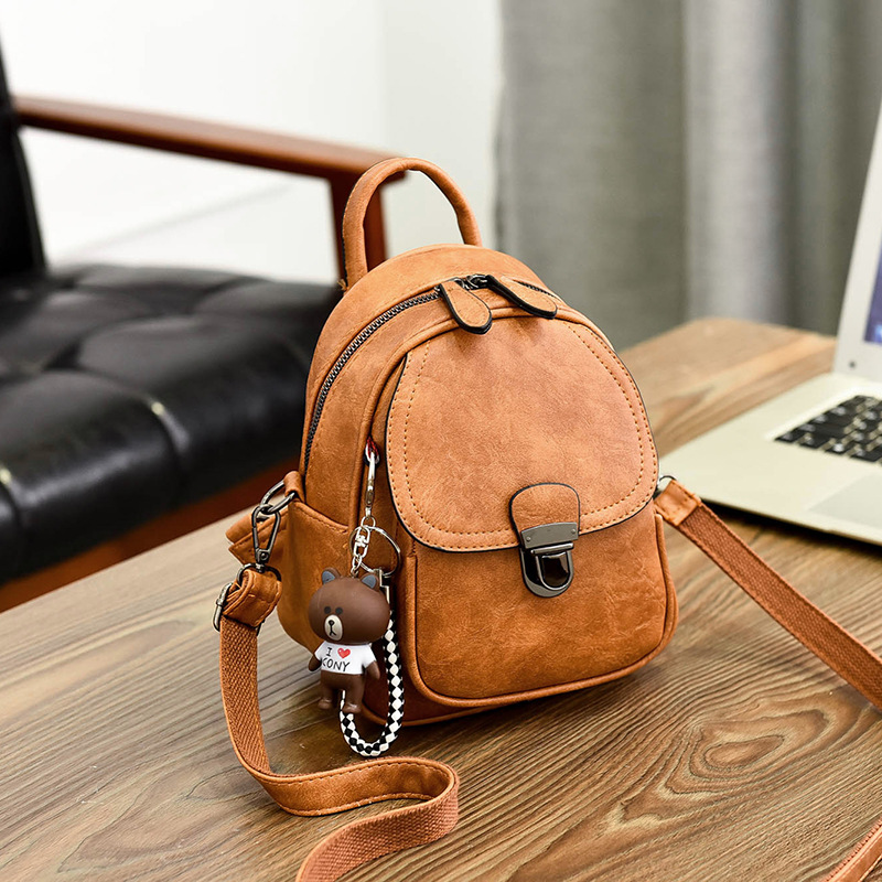 Double shoulder bag womens new Korean fashion versatile dual-purpose one shoulder small bag leisure Mini womens backpack TD