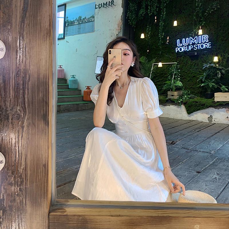 券后51.00元2019欧货洋气适合拍照显瘦显高气质女神范衣服超仙女森系甜美裙子