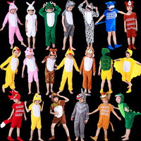 查看六一儿童动物演出服装幼儿园老虎小兔子青蛙老鼠狐狸奶牛表演衣服价格