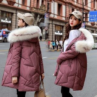 羽绒棉服女2019冬季新款韩版中长款宽松棉衣加厚外套女装TN-06