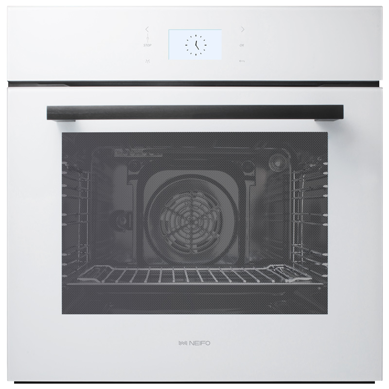 内芙 家用嵌入式烤箱专业厨房烘焙多功能大容量电烤箱白色BO862SW