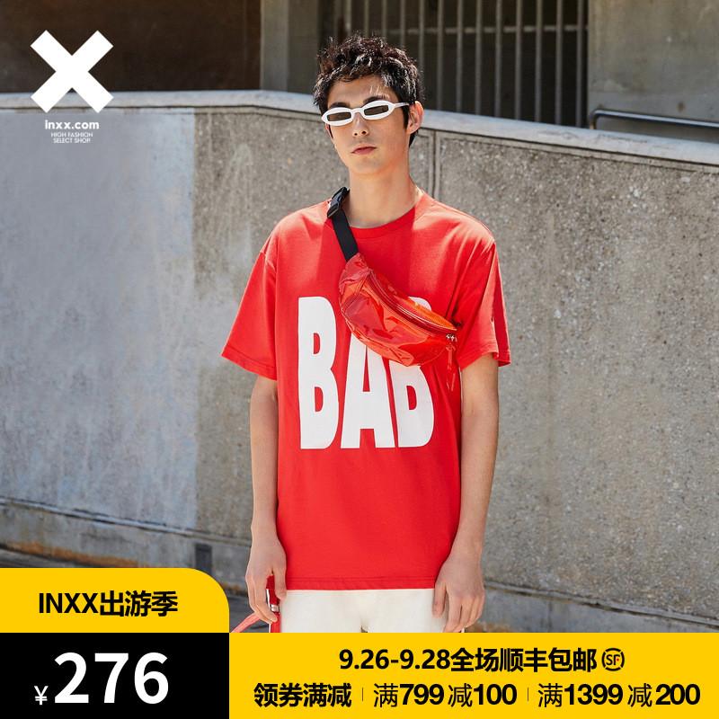 【INXX】Black and Blank 潮牌T恤印花短袖情侣装通款TM82013605