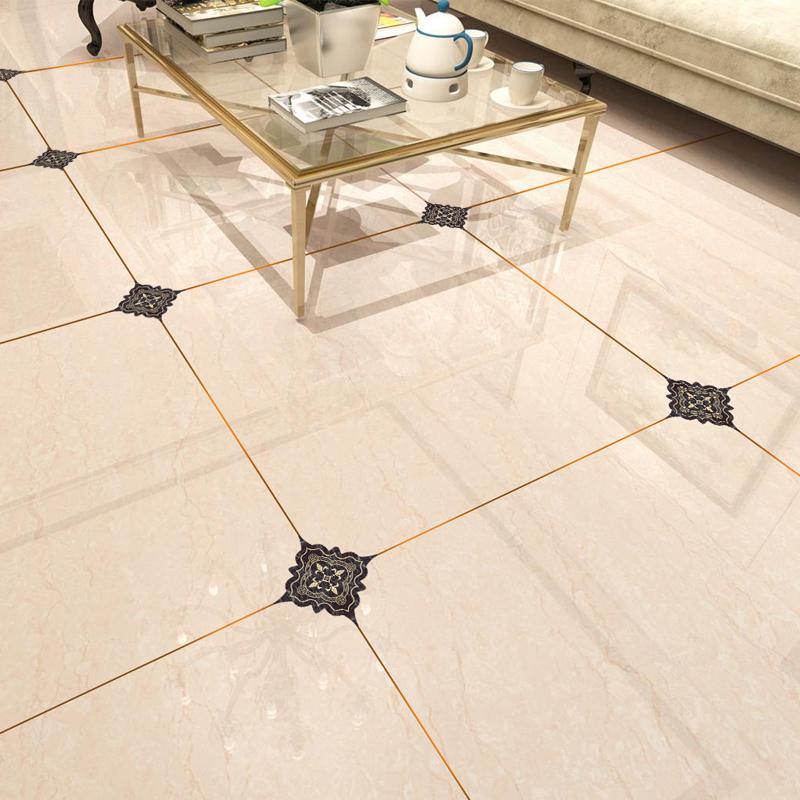 瓷砖对角贴防潮地砖贴纸地板贴防水耐磨自粘客厅地贴地面美缝装饰