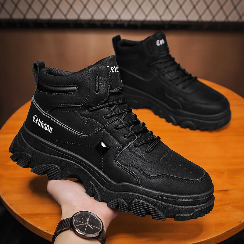 回力马丁靴男2021年新款短靴厚底沙漠靴子男冬季低帮防滑工装男鞋