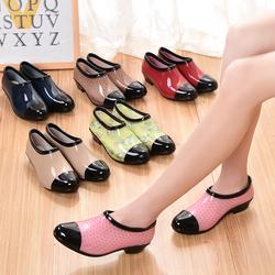 春夏季雨鞋女时尚潮流低帮水鞋浅口短筒雨靴胶鞋防滑水靴懒人套鞋