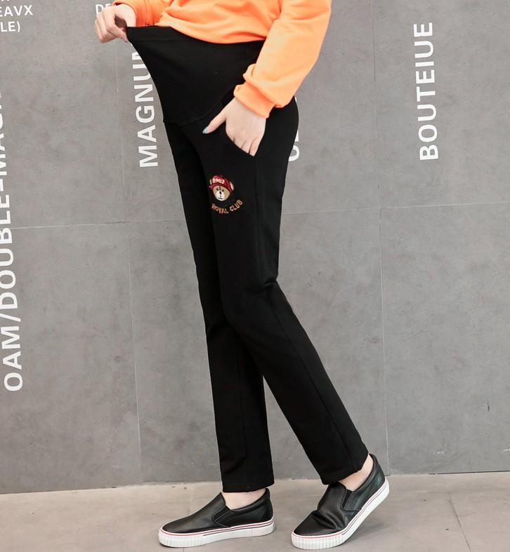 孕妇裤子春秋纯棉卫衣托腹长裤韩版修身大码宽松运动裤打底外穿