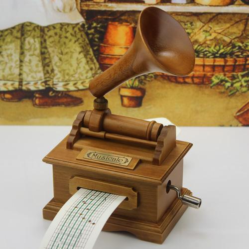 木质手摇纸带音乐盒八音盒创意情人节生日礼物女生浪漫闺蜜DIY