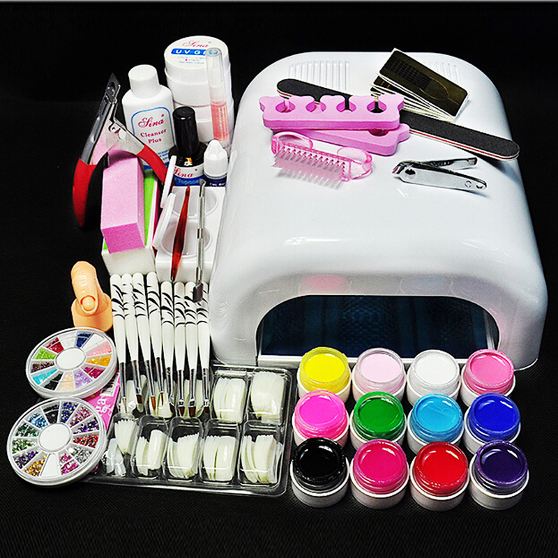 Nail tools set led nail machine nail polish glue drying phototherapy machine lamp beginners Nail Drill jewelry package