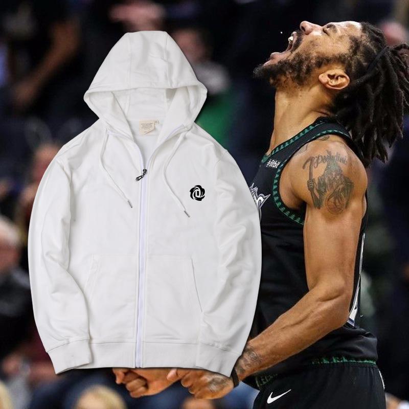 风城玫瑰森林狼ROSE罗斯25号篮球运动卫衣保暖拉链连帽开衫外套